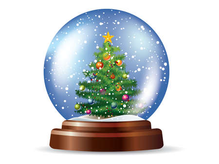 snowglobe: Snowglobe with Christmas tree
