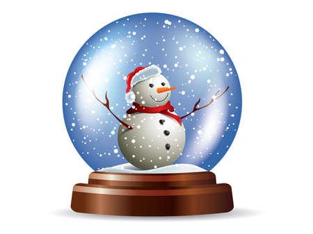 Snowglobe with snowman  イラスト・ベクター素材