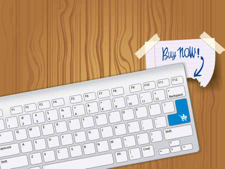 buy now: Buy now - blue key computer keyboard