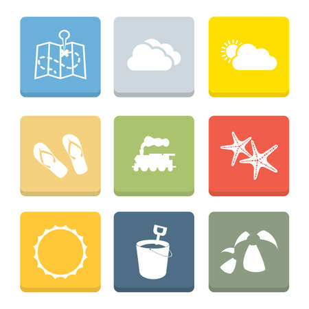 Holiday Flat Icons for Web and Mobile Applications Stock Vector - 19820400