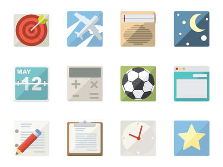 Flat Icons for Web and Mobile Applications Stock Vector - 20329030