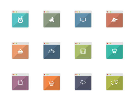Flat Icons for Web and Mobile Applications Vector