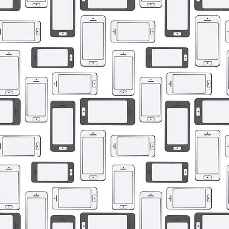 cdma: Mobile Devices, Smartphone, Seamless Pattern Background Illustration