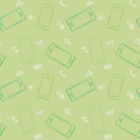 Mobile Devices, Smartphone, Seamless Pattern Background Stock Vector - 21419660
