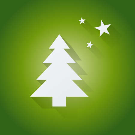 Christmas tree on green vector background Vector