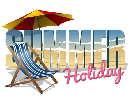 Summer holiday text Stock Vector - 21999910
