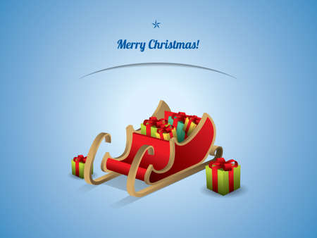 santa sleigh: Santa sleigh with Gifts Illustration
