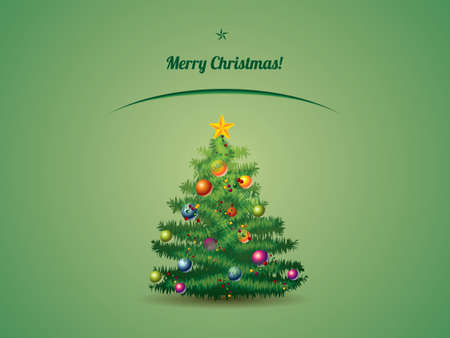 Christmas tree postcard Vector