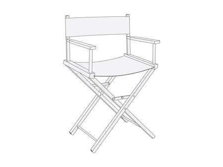 director chair: Movie director chair Illustration