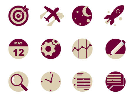 airplane icon: Rounded  Flat Icons for Web and Mobile Applications