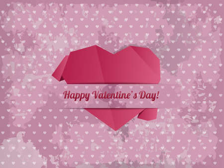 Paper Heart - Valentines day card vector Stock Vector - 23153704
