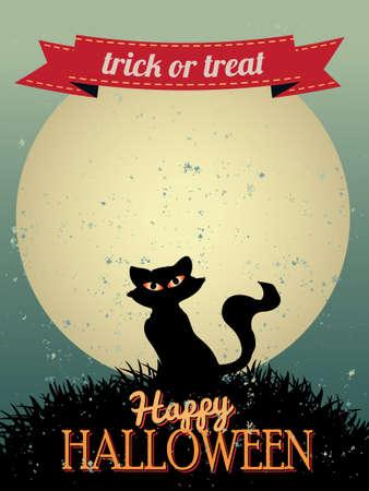 Happy Halloween Greeting Card Illustration