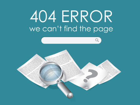404 Page not found vector Vector