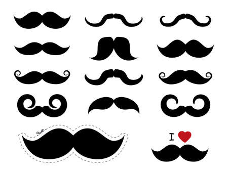 Moustache  mustache icons - Movember Vector