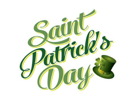 Typographic Saint Patricks Day Card