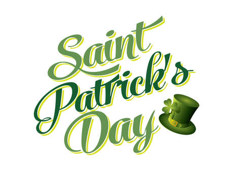 saints: Typographic Saint Patricks Day Card
