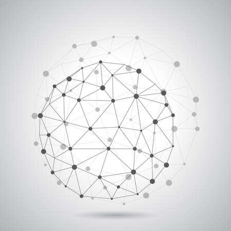 Abstract geometric molecular lattice