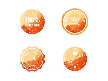 Set of vintage retro badges Vector