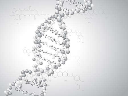 DNA spiral - molecules background Vector