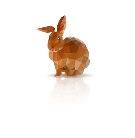 bunny rabbit: Abstract Rabbit low polygonal vector
