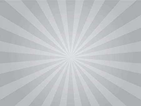 White and gray ray sunburst style abstract background