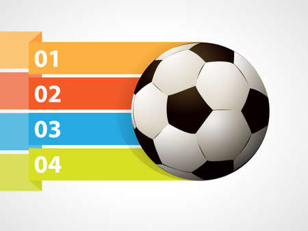 three points: Soccer ball with graphic informations - Vector illustration