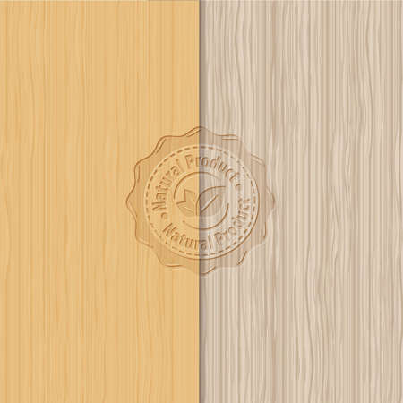Old brown wooden texture - Vector wood backgrounds