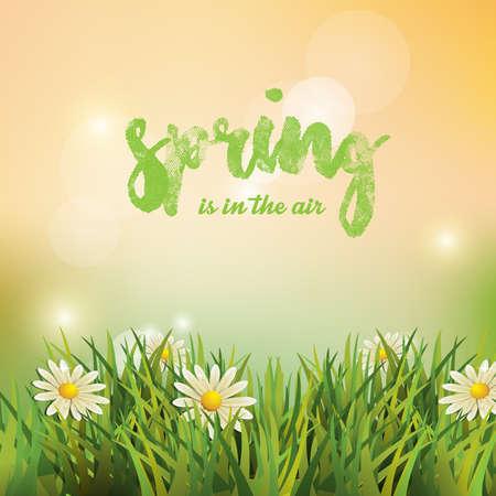 Printemps. Contexte. Le printemps est dans l'air. Vecteurs