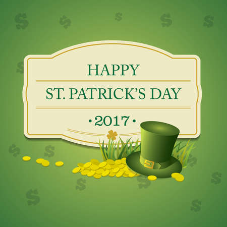 patrick s: St. Patricks Day vintage holiday badge design
