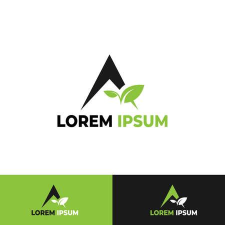 A Letter Logo Template Design Vector Illustration