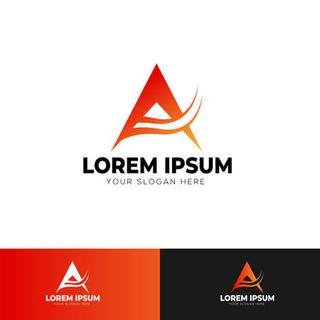 A Letter Logo Template Design Vector Illustration Standard-Bild - 102879451