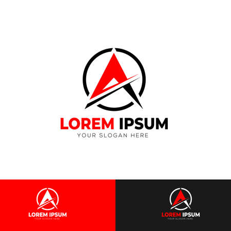 A Letter Logo Template Design Vector Illustration Standard-Bild - 102847293