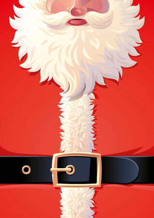 santa claus: Background of Santa Claus coat with belt. Illustration