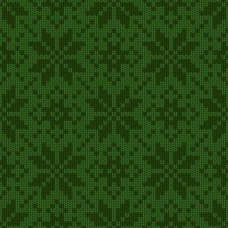 Winter Holiday knitted seamless pattern Vector Illustration