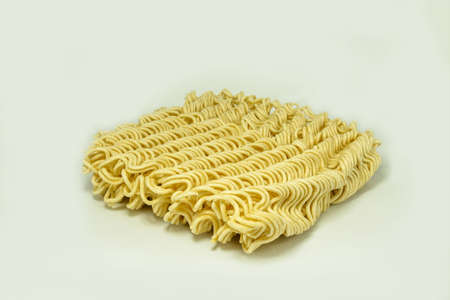 instant ramen: Instant noodles ramen, isolated on white background