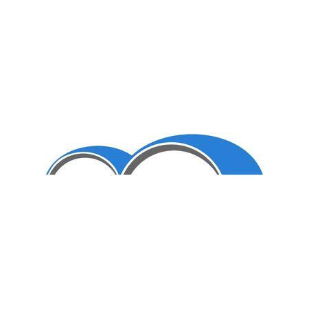 Logo design related to bridge or gate, flat design