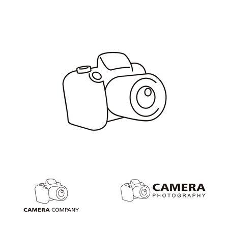 Camera logo design concept related to photographer studio