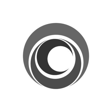 Swoosh resemble circle shape, flat design logo design element Illustration