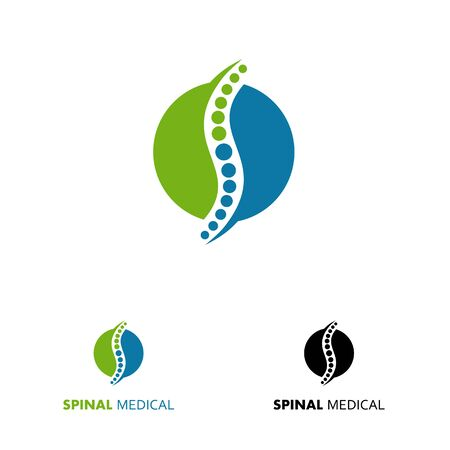 Spine logo design concept related to chiropractic Illustration