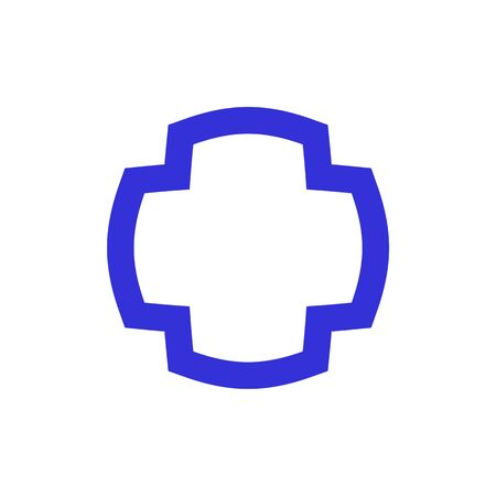 Abstract cross logo template related to medical clinic, pharmaceutical or hospital