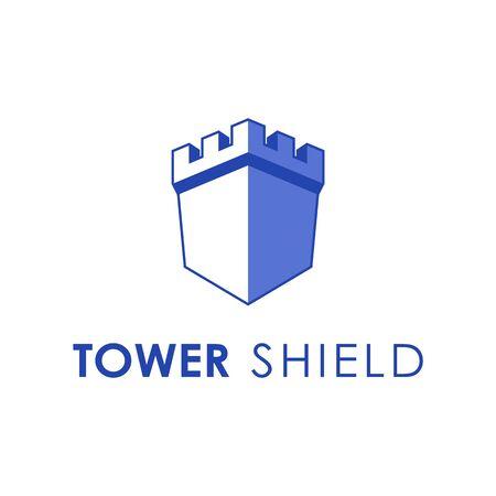 Logo design concept related to castle Illustration
