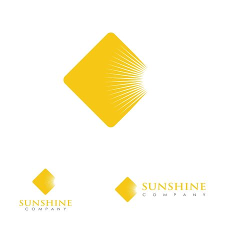 Logo design related to sun or solar cell energy