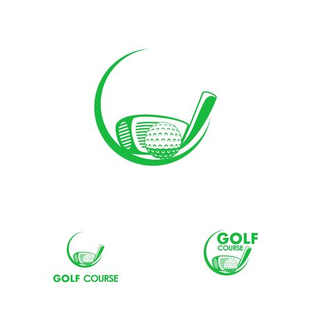 Logo design related to golf sport