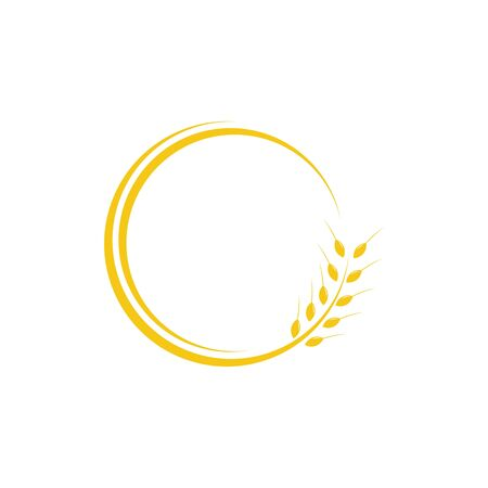 Wheat logo design related to agriculture or bakery