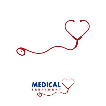 Stethoscope logo design related to medical clinic Illustration