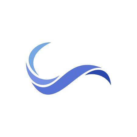 Swoosh resemble wave, logo design concept