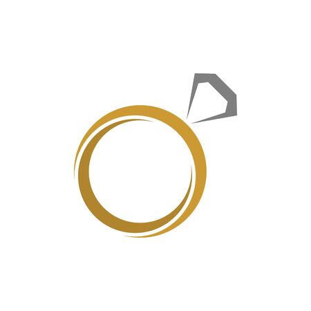 Logo design related to ring or jewelry, flat and simple style Illustration