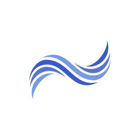 Logo design concept related to sea, ocean or wave