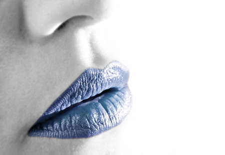 cold lips Standard-Bild