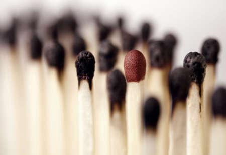 burnt matches with an intact Standard-Bild
